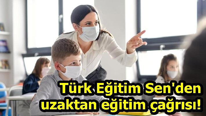 Türk Eğitim Sen'den uzaktan eğitim çağrısı!