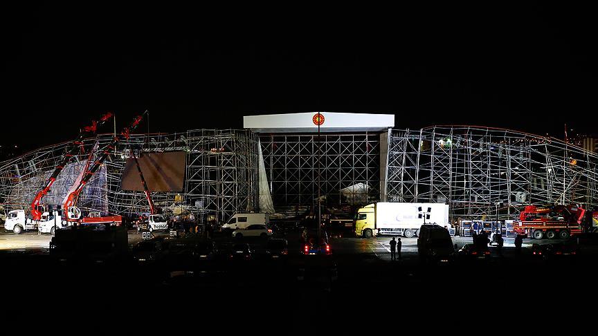 AKM'deki törenler kaza nedeniyle iptal edildi