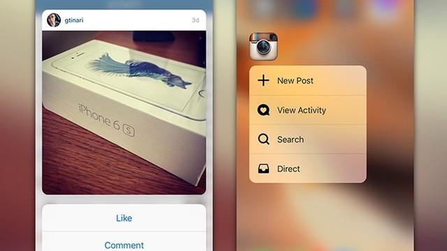Instagram'a 3D Touch desteği Android için geldi!
