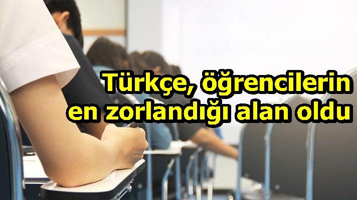 Türkçe, öğrencilerin en zorlandığı alan oldu