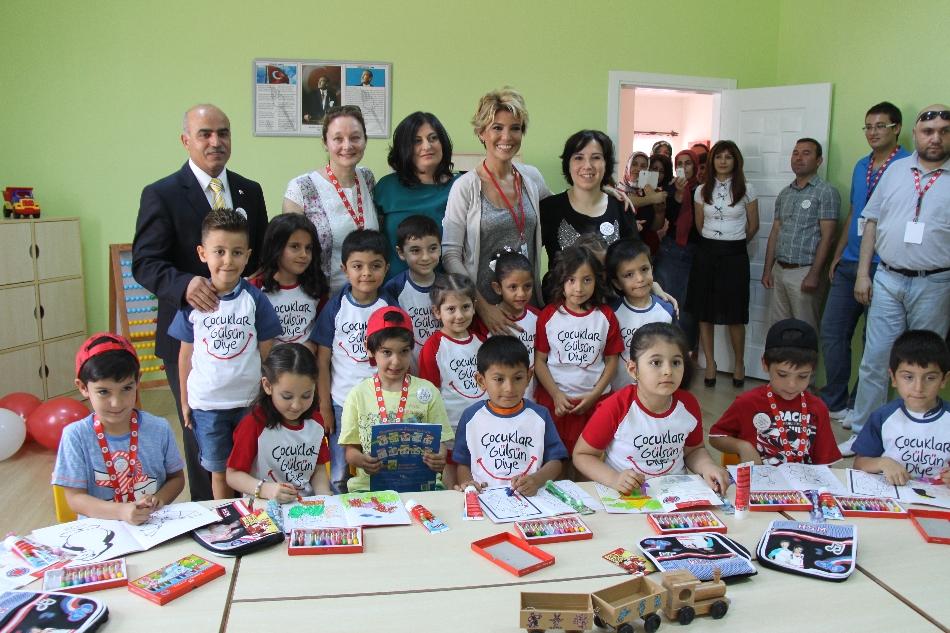 Çocuklar Gülsün Diye Derneği 22. Anaokulunu Antalya'da Açtı