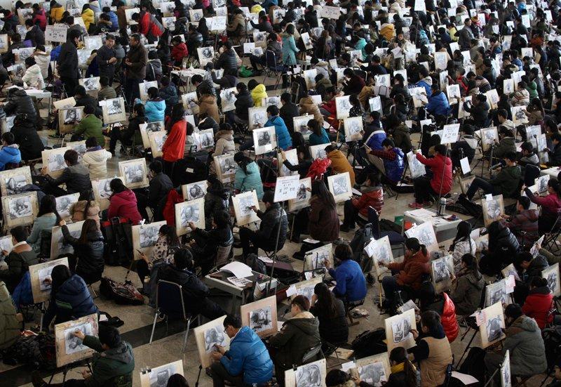 Çin'deki Üniversite Sınavından 22 Çarpıcı Kare